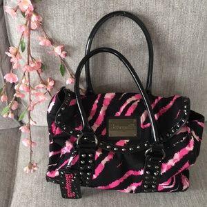 Betsey Johnson Betseyville Pink Zebra Bag